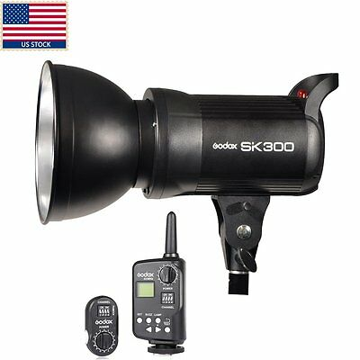 US Godox SK300 300w GN58 Photo Studio Strobe Flash Light Head Trigger Kit 110V