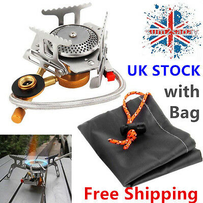 Portable Cookout Gas Stove Furnace Burner Cookware Outdoor Camping Picnic UK TOP