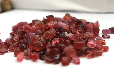 50Ct.- Rough Pink Red Spinel Gemstone Crystals Rare Mozambique  Unheated Natural