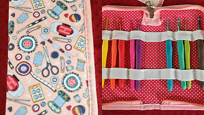 SOFT GRIP CROCHET HOOKS IN A HARD CASE 'Contemporary Notions' Design QUALITY