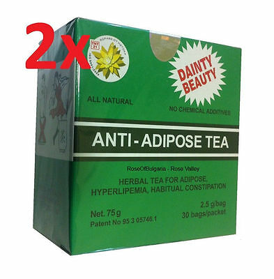 x 2 Herbal Tea Anti-Adipose & Hyperlipemia # 100% Natural Product  2 X 75g