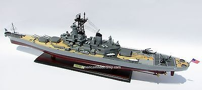 "USS IOWA BB61 Battleship Model 40"" - Handcrafted Wooden Warship Model"