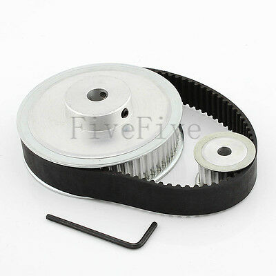 HTD 5M 60/20 Tooth Width 21mm Timing Pulley Belt set kit Reduction Ratio 3:1