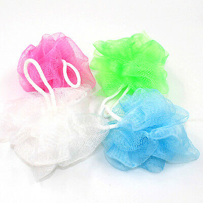 2/5pcs New Bath/Shower Body Exfoliate Puff Sponge Scrub Mesh Net Ball