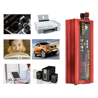 2000W Power Inverter Converter Modified Sine Wave Car USB DC 12V to AC 220V