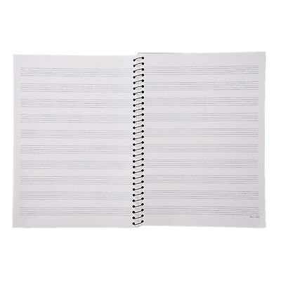 Music Sheet Composition Manuscript Paper Stave Notebook A4 100 Pages New