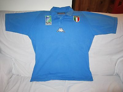 Italy 2003 Rugby World Cup Cotton Polo Shirt Size Large