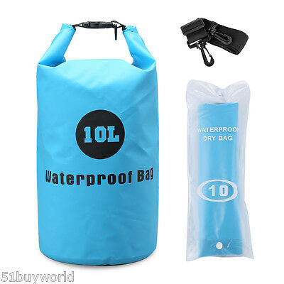 10L Waterproof Drift Floating Canoe Camp Swimming Dry Bag With Shoulder Strap