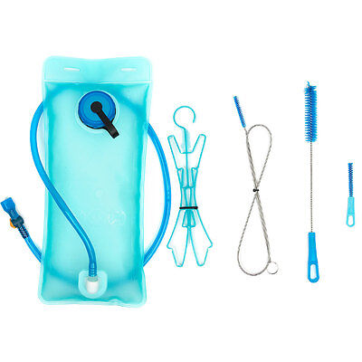 2L Hydration Water Bladder Bag Backpack Drinking Pouch Cycling + Cleaning Kit