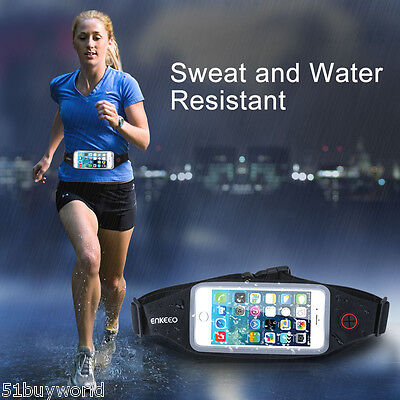 Sweatproof Touch Screen Phone Case Adjustable Sport Belt Pack Pouch Waist Bag