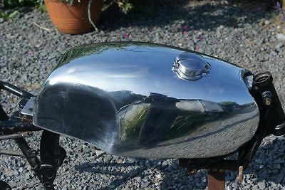 "Hand made alloy ""Slippery Sam"" tank for Hinckley Triumph Thruxton / Bonneville"