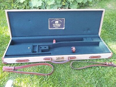 Canvas and Leather Shotgun Case