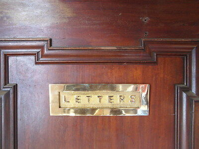 large edwardian style solid brass front door letters letterbox letter box plate