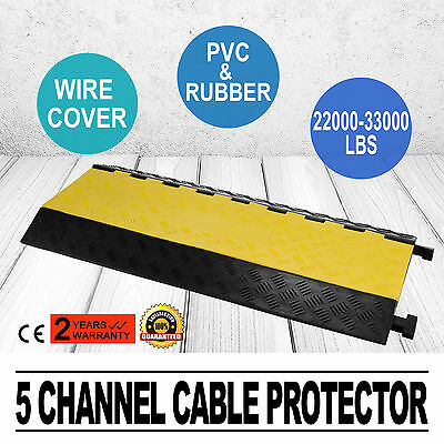 5 Channel Cable Protector Commercial Wire Cover Ramp Factory Direct Novel Design