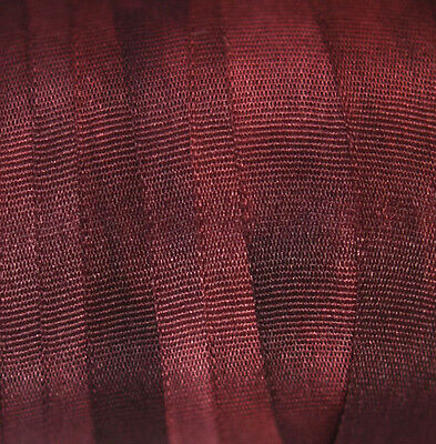 Silk Ribbon for Embroidery 7mm - 3 meters - Bordeaux
