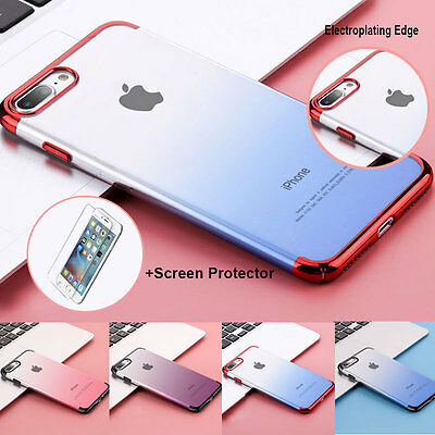 360° Luxury Hard Slim Thin Case+Screen Protector Cover For iPhone 6 6s 7 Plus