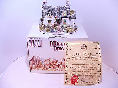 Lilliput Lane Cottage Kirkbrae Cottage 1990 box and deeds