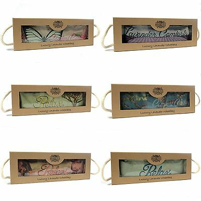 Gift Boxed Luxury Wheat/Lavender Bag - Microwavable Warmer Wheaty Heat Cushion