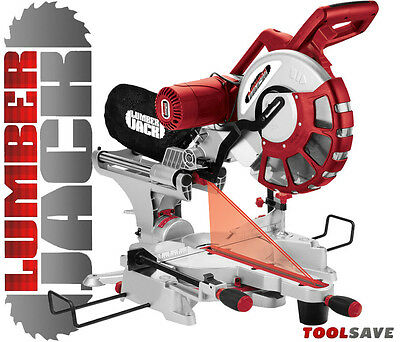 "Lumberjack 12"" 2000W Double Bevel Sliding Compound Mitre Saw with Laser 240v"