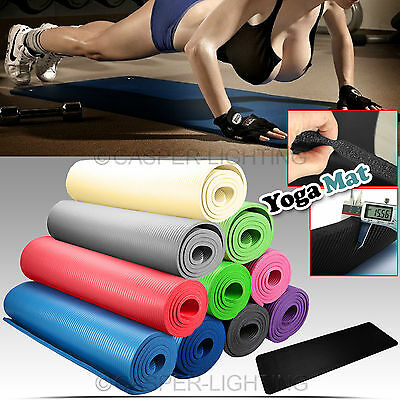 Yoga Mat Exercise Fitness Aerobic Gym Physio Pilates Camping Non Slip 15mm Thick