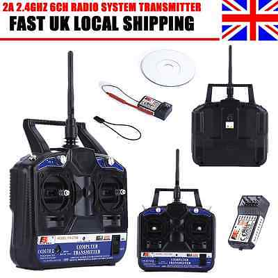 New Flysky FS-CT6B 2.4GHz 6CH Radio System Transmitter For RC Airplane UK