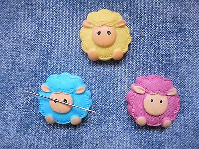 SPECIAL OFFER Super Cute Sheep Needle Minder 3 Colours Cross Stitch