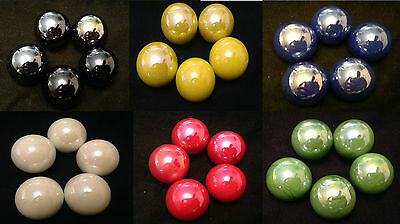 5 x 22mm HOM Pearly Glass Marbles Collectors or game solitair 6 colors