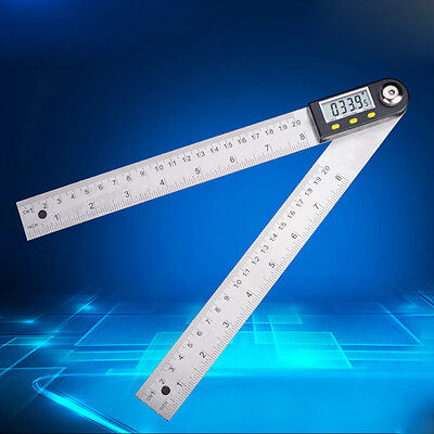 Stainless Steel 200mm Digital Protractor Inclinometer Electronic Angle Gauge 8""