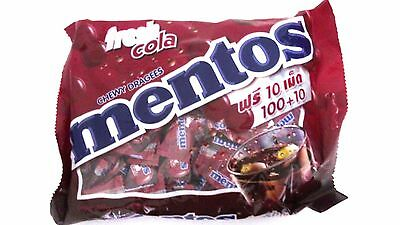 Mentos Fresh cola, candy, cola 100 tablets. Chewy