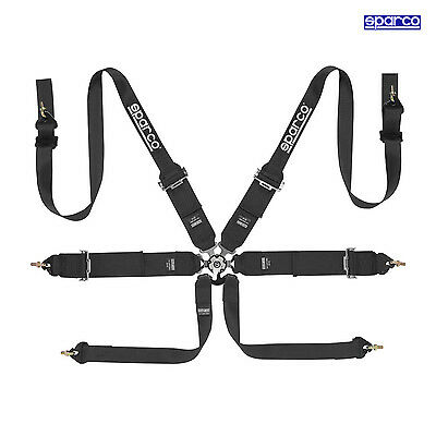 Sparco 6 - point Safety Belts, narrow to HANS, black