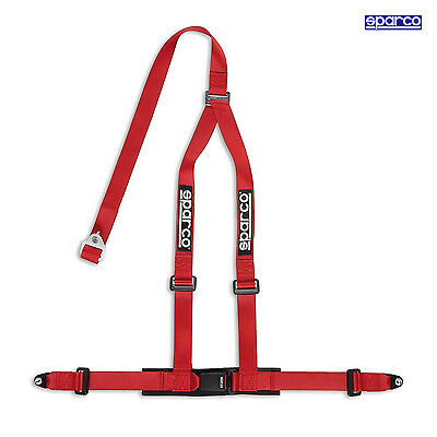Sparco 3 - point 2 inch Safety Belts with standard bolts, red