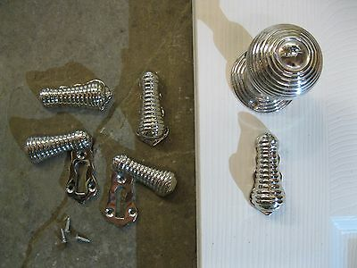 1 No Polished Nickel Beehive teardrop Key Hole Escutcheon KHR4