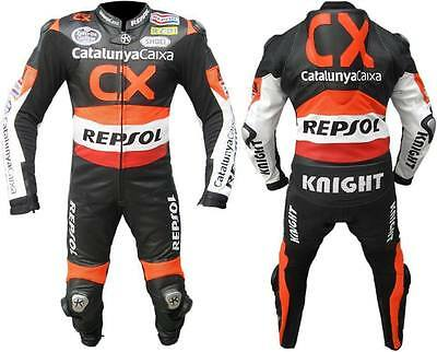 REPSOL 1-OR-2 PC MOTORBIKE LEATHER SUIT JACKET/TROUSER RACING MOTORCYCLE(Replica