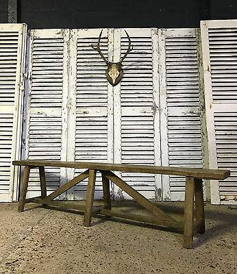 Superb Vintage Antique French Country Farmhouse Military Bench