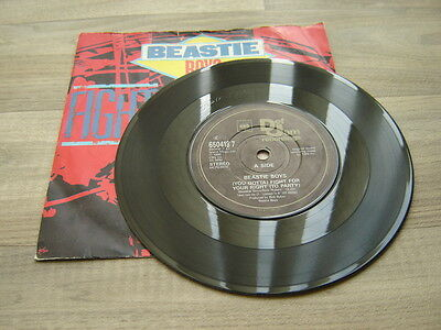 """THE BEASTIE BOYS hiphop rap 7""""45 oldschool Fight For Your Right To Party DEF JAM"""