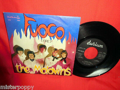 THE MOTOWNS Fuoco Fire (Artur Brown cover) 45rpm 7' + PS 1968 ITALY BEAT MINT