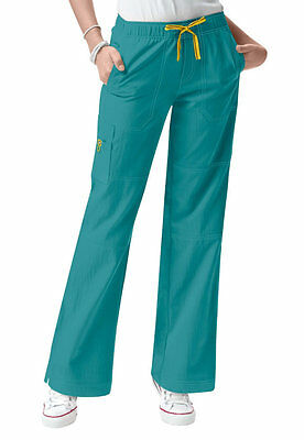 WonderWink 5214 Women's Four Stretch Cargo Scrub Pant Real Teal