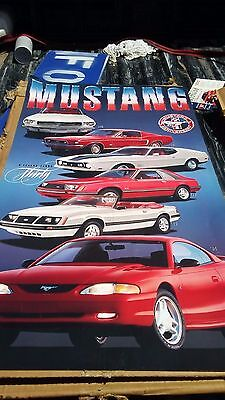 30th anniversary Dealership poster Ford Mustang  1994