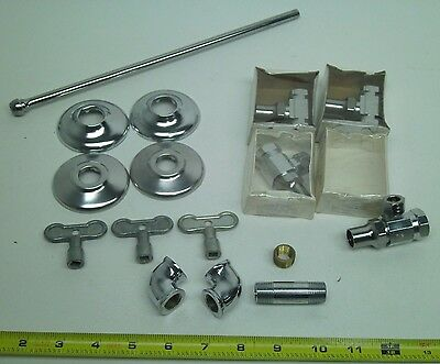 BIG LOT Vintage Tamperproof Water Supply Stop Line Toilet Shut-Off Valve Pipe KB