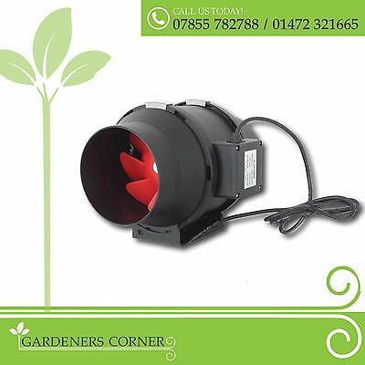 Hydroponics Twin Speed Extractor Fan 100 125 150 200mm High and Low Power