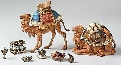 "Fontanini Nativity - 5"" Scale - Kings Caravan Set - 10 Pc Set - Camels & Gifts"