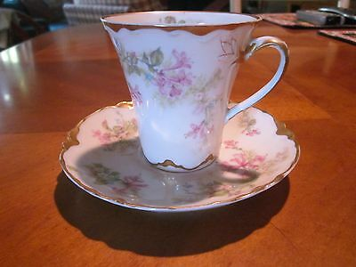 Haviland Limoges Chocolate cup and saucer,  Sch 901 on blank 24
