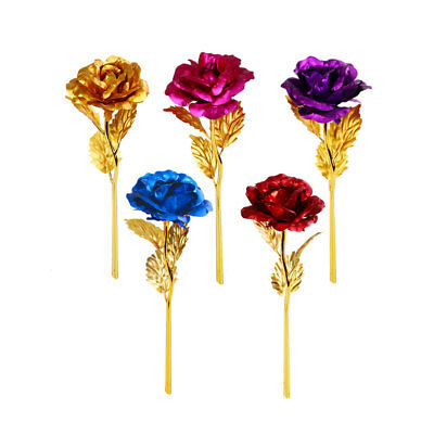 24K Gold Plated Golden Rose Flower Present For Lovers & Friends Valentine's Day