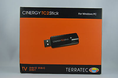 TERRATEC CINERGY TC2 Stick USB DVB-T/T2 DVB-C 1080p EPG TxT + Antenne OVP
