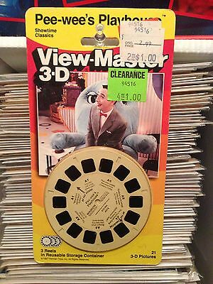 PEE WEE HERMAN 3D View-Master Slides PeeWee's Playhouse 1988 Showtime Classics
