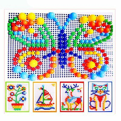New Children Mushroom Nails Kids Creative Puzzle 3D DIY Pegboard Educational Toy