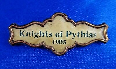 """1905 Knights of Pythias Fraternal Pin Pinback Button Badge 2"""""""