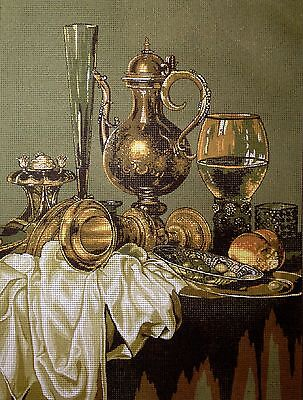 """Gobelin Tapestry Needlepoint Kit """"Still life"""" hand embroidery printed canvas 106"""