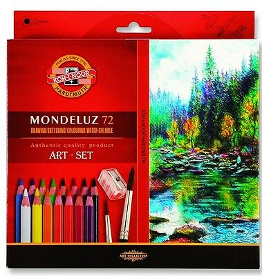 Buntstifte Mondeluz Aquarell Watercolor Pencils 72 colors KOH-I-NOOR 3714