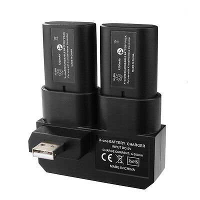 CHIC Dual Rechargeable Battery Pack + Charging Dock for Xbox One Gamepad BC575
